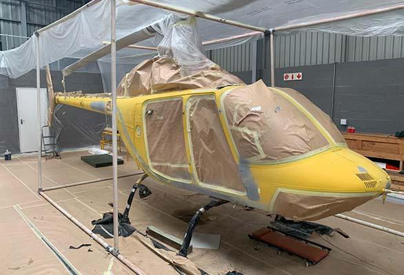 helicopter refurbishment spray repairs